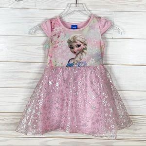 Disney Size 5 Pink Dress Elsa